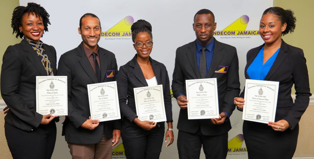 Indecom Gets First Iai Crime Scene Analyst Certifications In Jamaica
